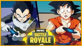 If GOKU and VEGETA played FORTNITE Battle Royale-* All'Animazione Reaction *
