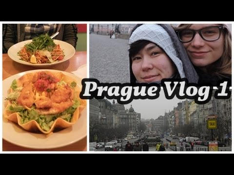 Our First Day in Prague; Wenceslas Square, Yummy Food, and Scary Hostel | Prague Vlog 1