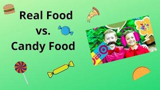 FORCE FIELDZ: Real Food vs. Candy Food Challenge