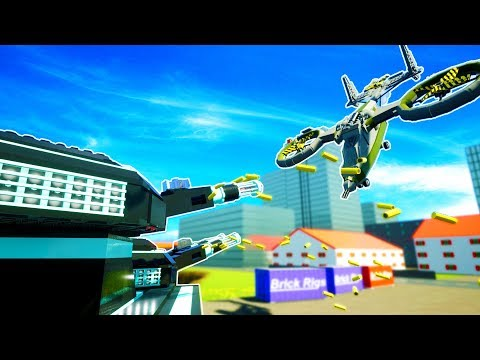 EXTREME ANTI AIR TANK VAPORIZES TWIN BLADE HELICOPTER! - Brick Rigs Workshop Creations Gameplay