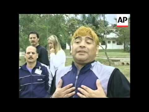 CUBA: DIEGO MARADONA DRUG ADDICTION TREATMENT