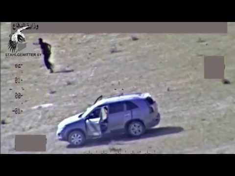 Destruindo Terroristas  Em Um Comboio Do ISIS