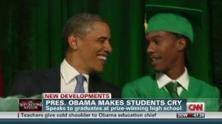Memphis school gets surprise from Obama