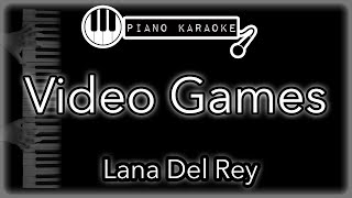 """Piano karaoke instrumental for """"video games"""" by lana del reyyou can now say thank you and buy me a coffee! ☕️it will allow to keep bringing the best p..."""