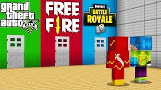 DO NOT CHOOSE THE CONSLATe VIDEO GAME 😍 FREE FIRE, FORTNITE AND GTA V in MINECRAFT
