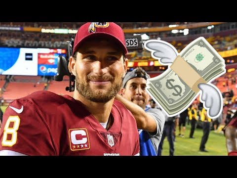Kirk Cousins Signing Mind Blowing 3 Year MEGA CONTRACT!