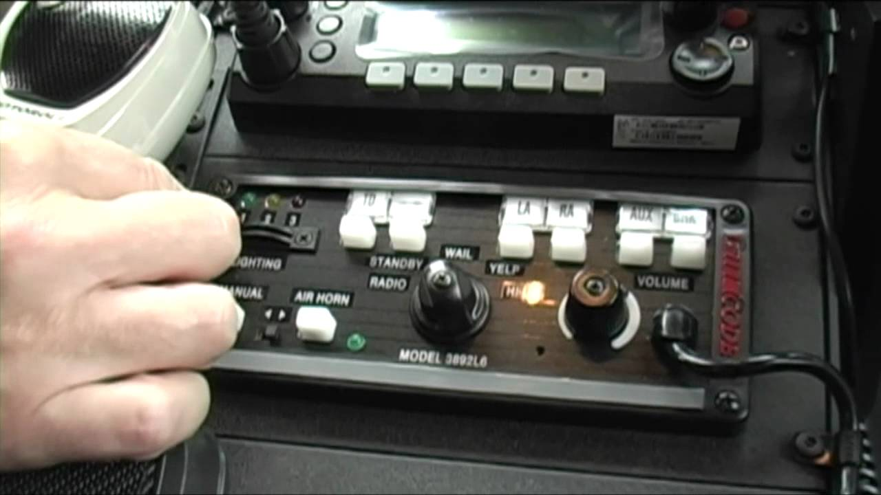 Code 3 Mastercom B Series Siren W Light Controls Youtube