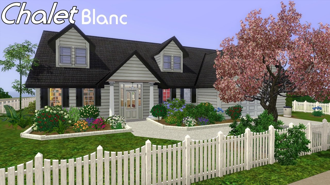 Manor House Floor Plan Sims 3 House Building Chalet Blanc In Sims 3 Youtube