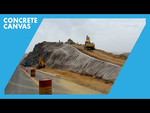 Concrete Canvas (CC) Slope Protection - Al Bahah, Saudi Arabia - FOQSCO