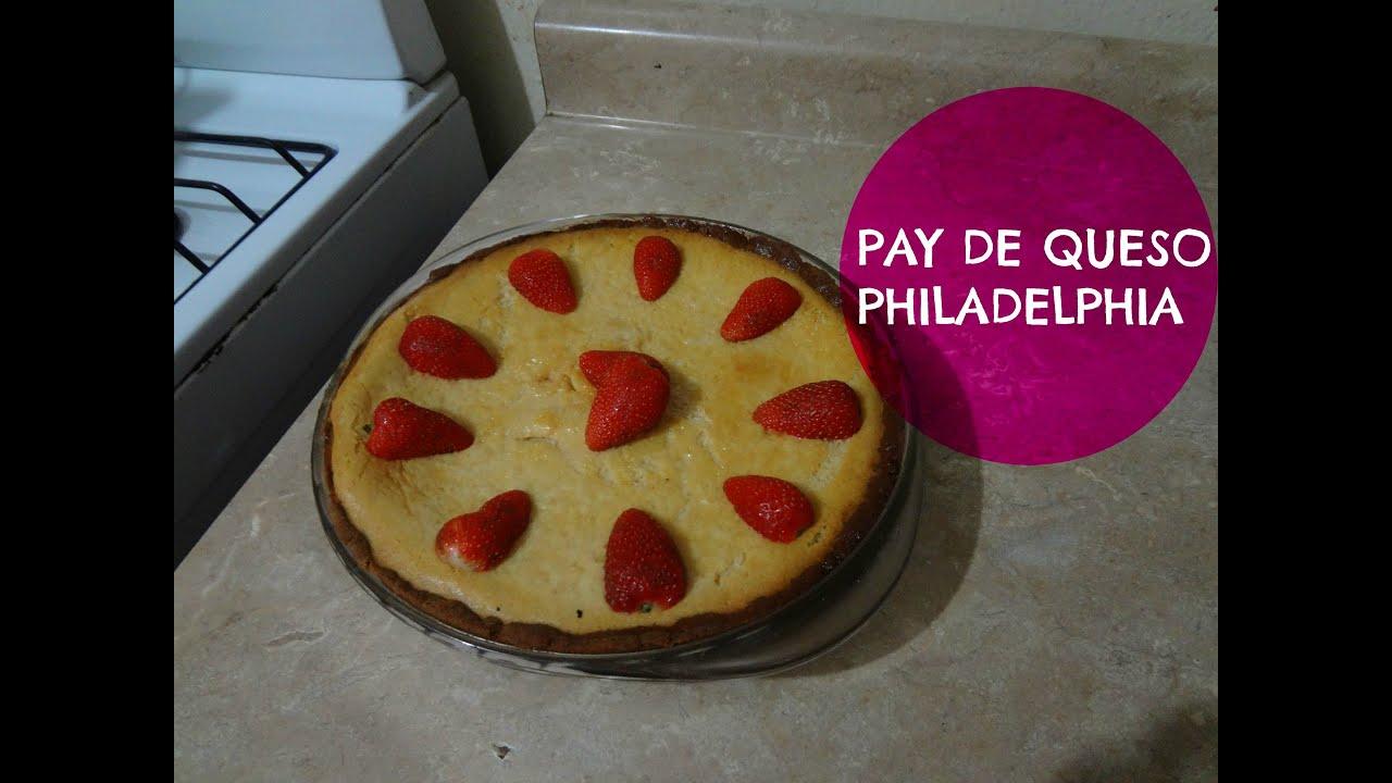 Como hacer pie pay de queso philadelphia con fresas - Postres con queso de untar ...