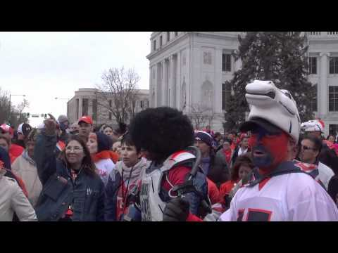 Denver Broncos pep rally before New England Playoff Game