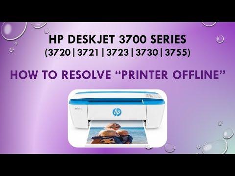 HP Deskjet 3720 | 3723 | 3730 | 3755:How to resolve a Printer Offline issue