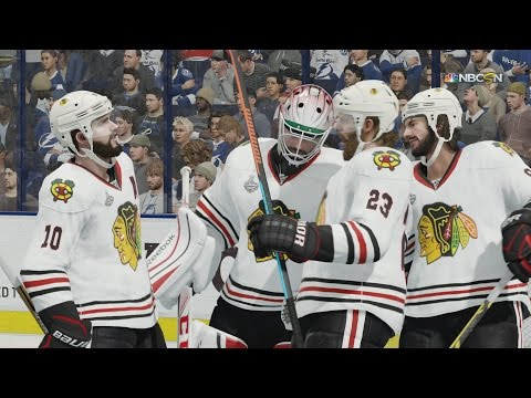 NHL 16 – Stanley Cup 2015: Chicago Blackhawks v Tampa Bay Lightning [1080p 60FPS HD]