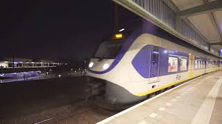 Netherlands, train night ride from Duivendrecht to Amsterdam Muiderpoort