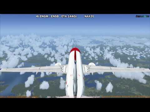 [FSX] PMDG 737 NGX | Oslo (ENGM) to Svalbard (ENSB) Part 2