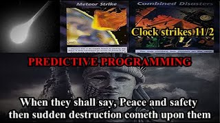 WAR with Iran before election? Emails EXPOSED Meteor disguised as an attack? Illuminati card clock!