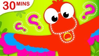 Where Is My Beak? Jungle Animals | Puppies Safety Tips | Itsy Bitsy Spider by Little Angel