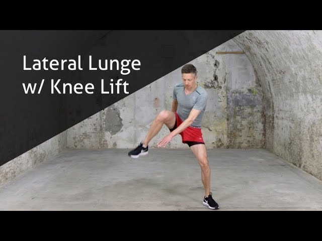 Lateral Lunge With Knee Lift - hoe voer ik deze oefening goed uit?