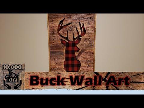 Rustic Wall Art Deer Head DIY | Buck Wall art decor | Cabin decor | Reclaimed wood wall art