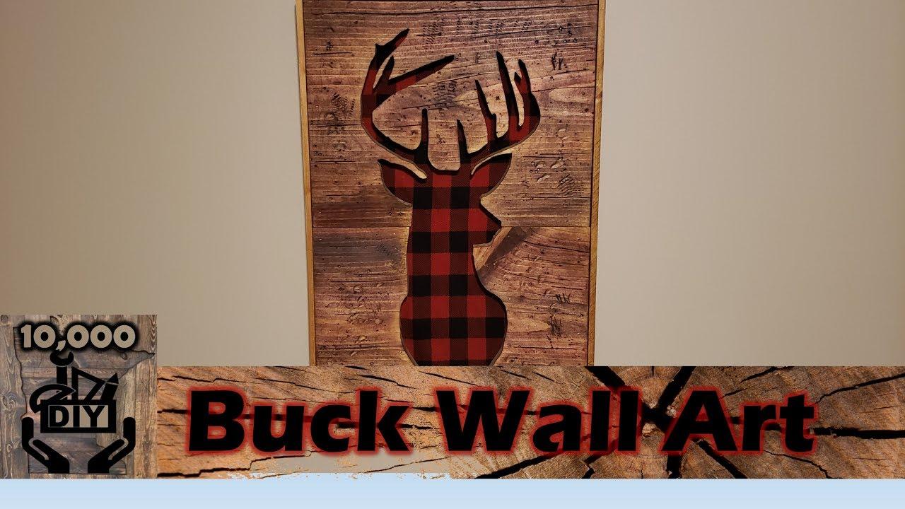 rustic wood sign, recycled pallet wood pallet wood deer deer silhouette Deer head wall decor rustic wall hanging country deer art