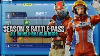 Fortnite Season 3 Battle Pass All Items! Skins,Pickaxes,Gliders (Fortnite Season 3 Battle Pass)