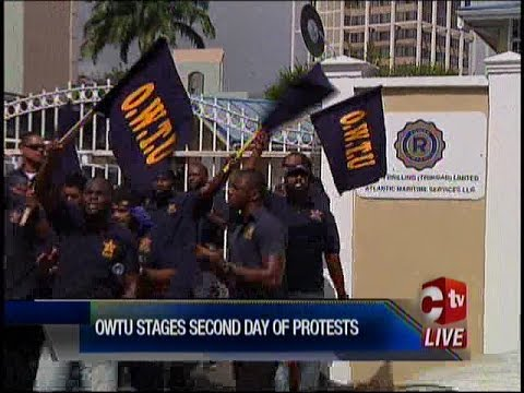 OWTU Protests For 2nd Day For Independent Probe Into Rowan Drilling