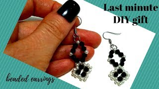 Last minute DIY gift. Beaded earrings . Beading tutorial
