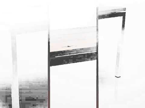 Table de jardin rectangulaire en teck recyclé et inox 140x70cm VENICE - Tek  Import