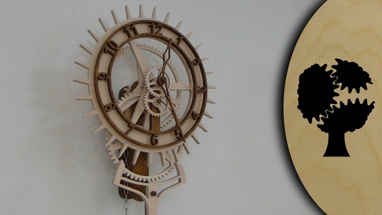 korona holzuhr wooden clock youtube. Black Bedroom Furniture Sets. Home Design Ideas