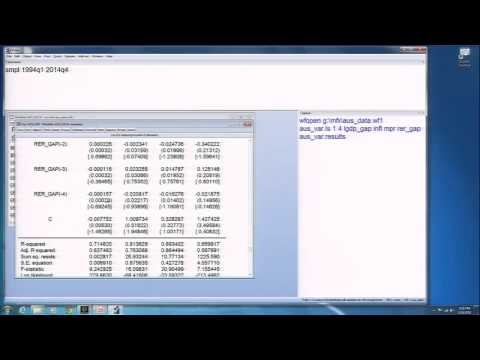 Module 5: Session 3: Estimating A  Vector AutoRegreSsion (VAR) IN EVIEWS