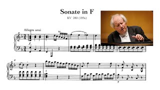 Grigory Sokolov. Mozart - Piano Sonata No.2 in F Major, K 280