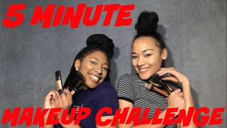 5 MINUTE MAKEUP CHALLENGE | SUMMAR KNOX