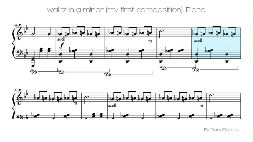 Piano lion king piano sheet music : waltz in g minor (my first composition) [Piano Solo] - YouTube