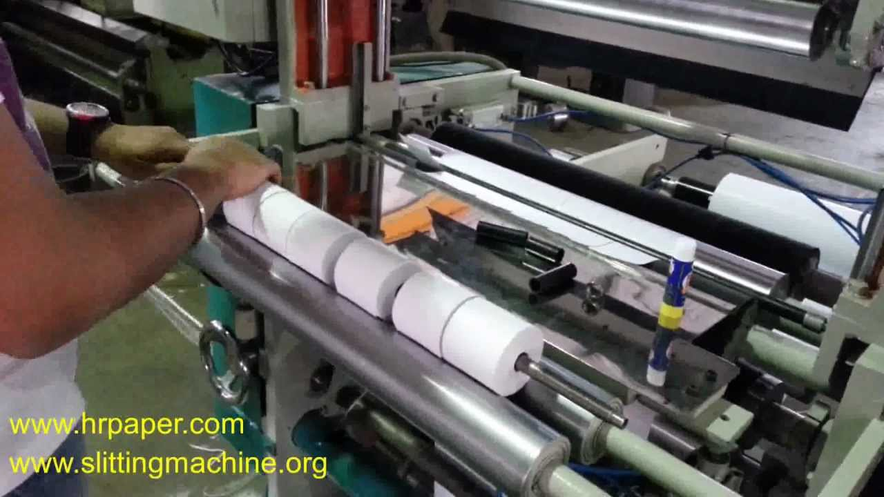 Tapless Small Roll Making Atm Roll Mfg Machine Youtube