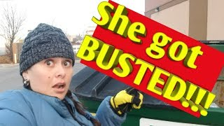 BUSTED!!! Employee Caught Me in The Family Dollar Dumpster!