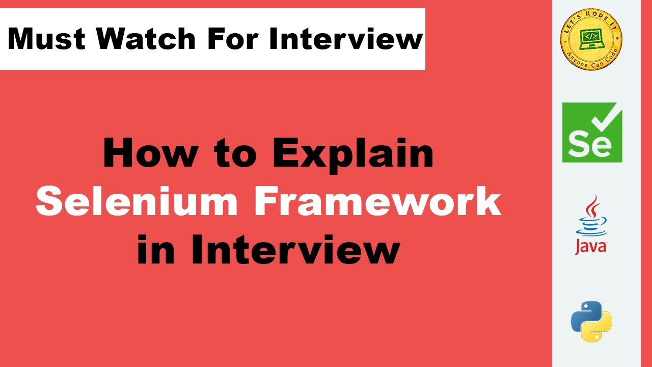 Download How To Explain Selenium Automation Framework In Interviews