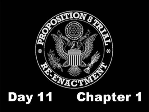 Prop 8 Trial Re-enactment, Day 11 Chapter 1