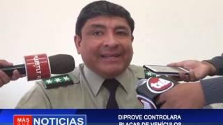 DIPROVE CONTROLARA PLACAS DE VEHÍCULO