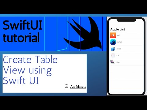 HOW TO CREATE A TABLE VIEW USING SWIFTUI/ SWIFTUI TUTORIAL thumbnail