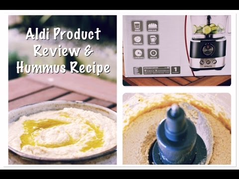 Aldi AMBIANO Food Processor Review & A Hummus Recipe