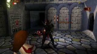Deathtrap Dungeon (PSX) - gameplay (warrior priestresses)