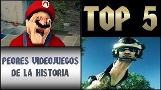 TOP 5 PEORES VIDEOJUEGOS DE LA HISTORIA