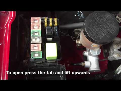 Mazda MX5 Fuse Box & Relay Location RHD