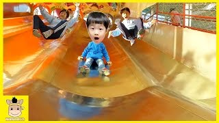 Indoor Fun Playground for Kids and Family Super Slide Rainbow Colors Run Play | MariAndKids Toys.