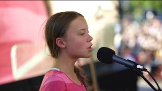 Greta Thunberg at the Global Climate Strike in New York City