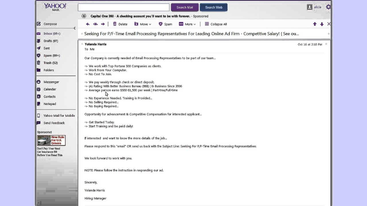 Email Processing Work at Home Jobs - YouTube