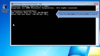 How to change date from Command Prompt (MS-DOS) Video