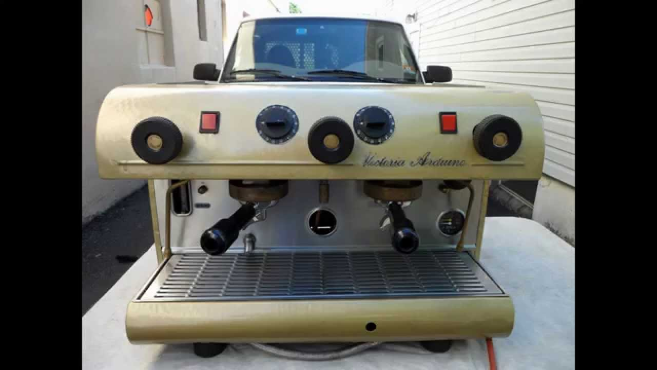 Victoria Adruino Vintage Espresso Machine - YouTube