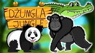 Zwierzęta w dżungli - Nauka zwierząt dla dzieci - Odgłosy zwierząt | CzyWieszJak
