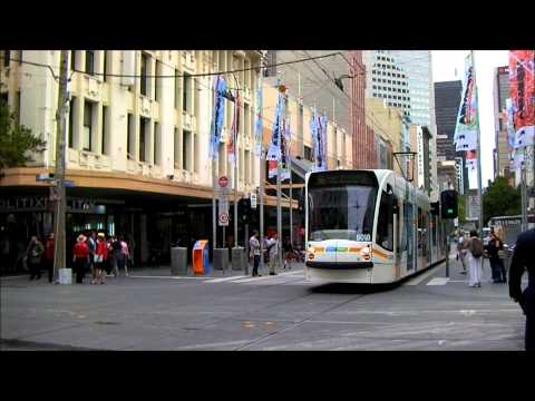 Melbourne the tram city Part 1 - Straßenbahnen in Melbourne 1. - Villamosok Melbourne-ben